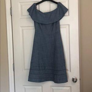 Banana Republic Chambray Off Shoulder Dress, Sz 6